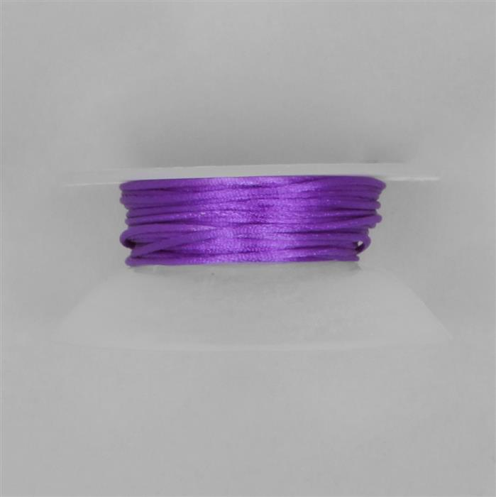10m Purple Satin Cord 1mm on Bobbin