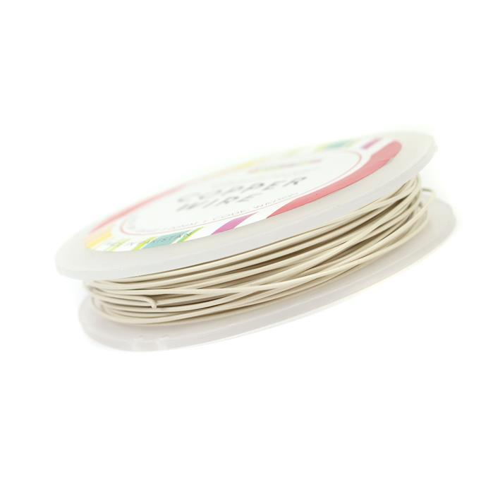 10m Silver Plated White Pastel Copper Wire 1.00mm