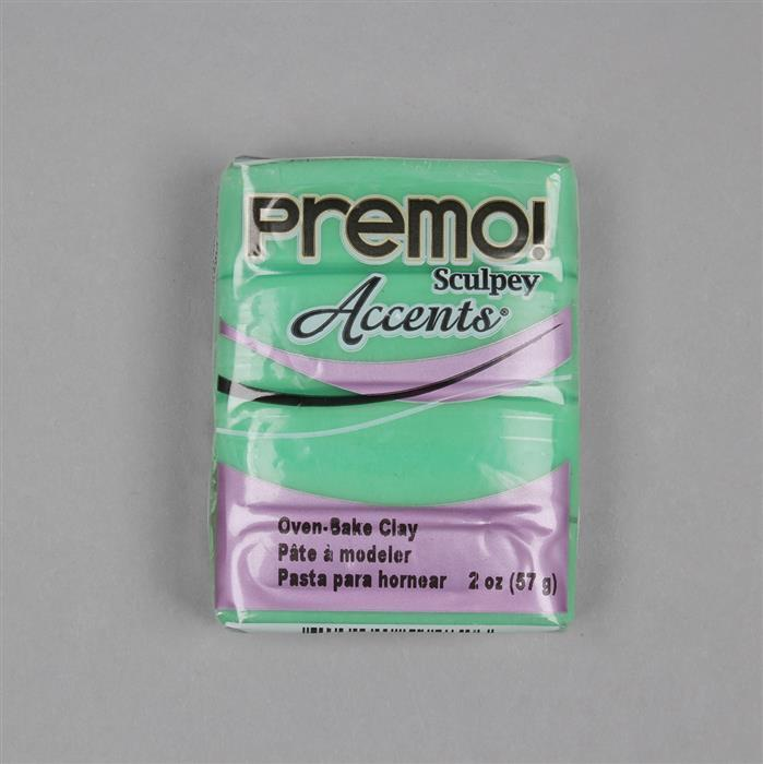 Premo! Sculpey Accents Green Translucent Polymer Clay 57g