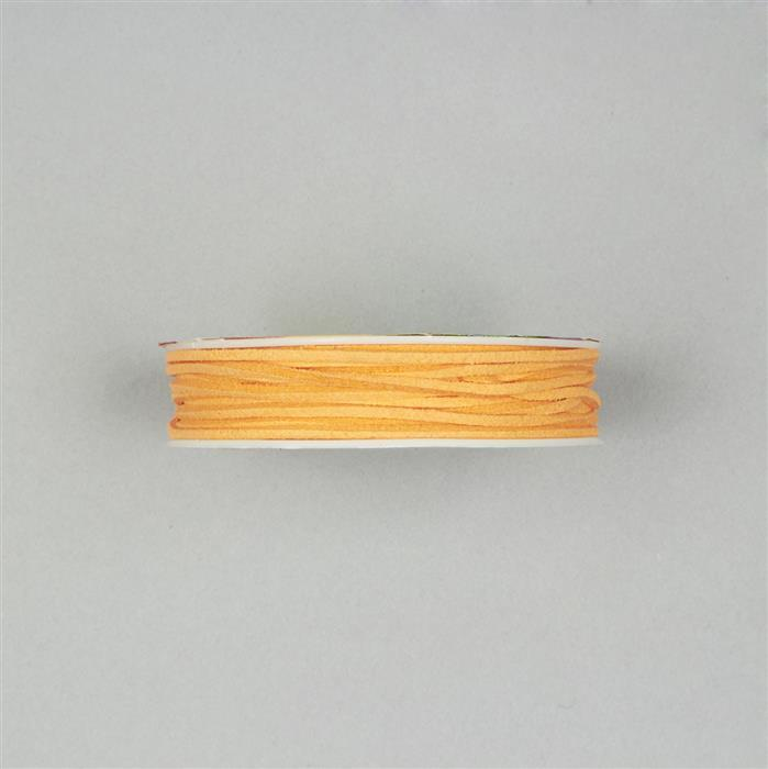 5m Orange Suedette Cord 1.8mm