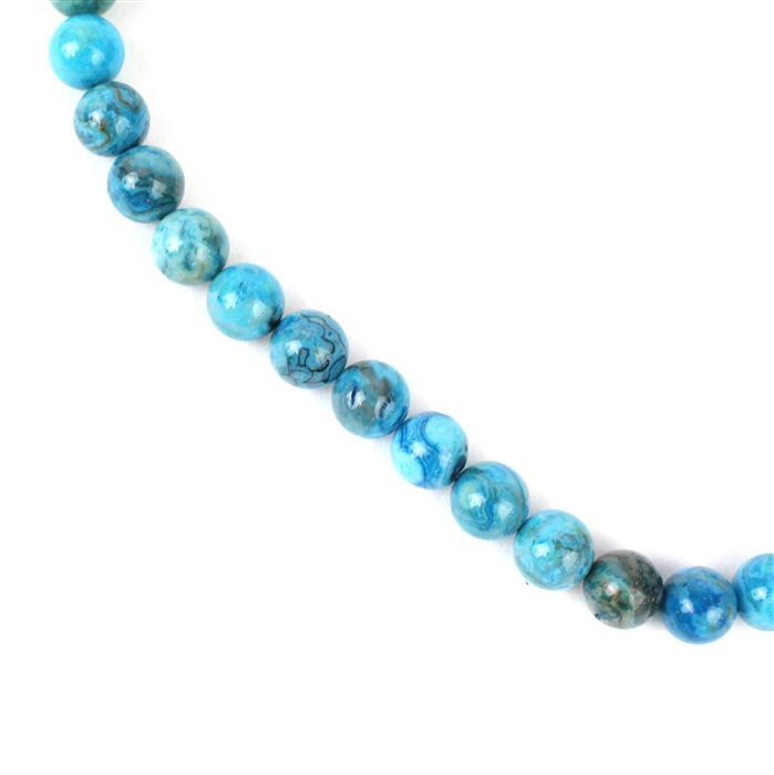 260cts Blue Dyed Agate Plain Rounds Approx 10mm, Approx 40cm/strand