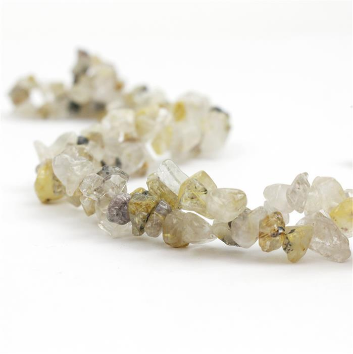 300cts Golden Rutile Quartz Small Nuggets Approx 3x5 to 6x10mm, 82-86cm strand