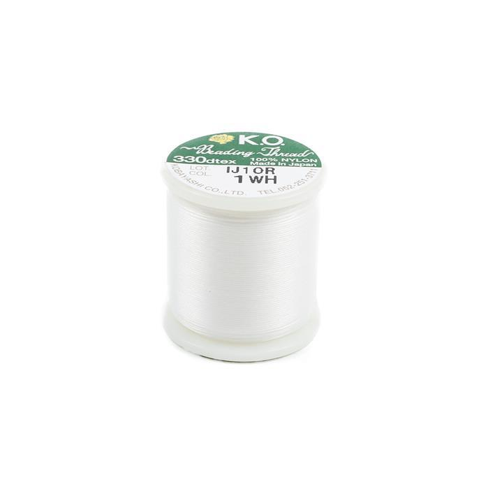 KO Beading Thread White Approx 50m