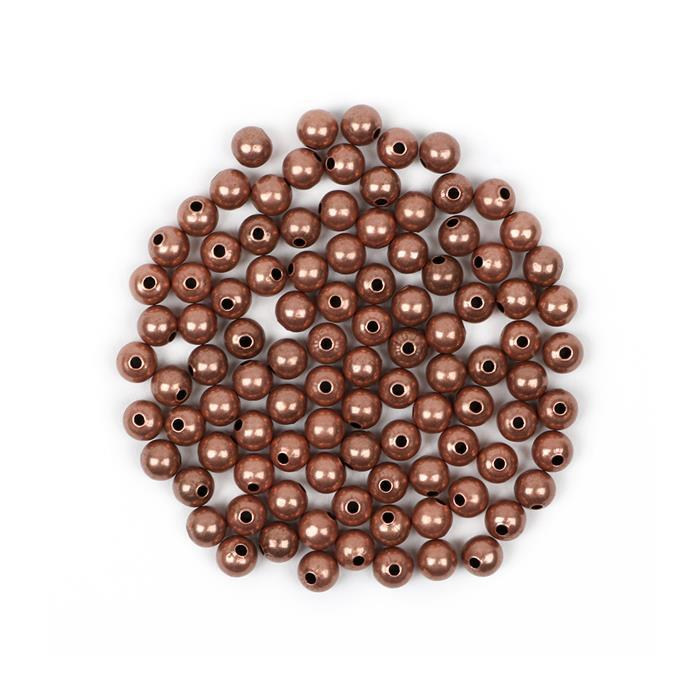 Antique Bronze Plated Brass Round Beads - 5mm (100pcs/pk)