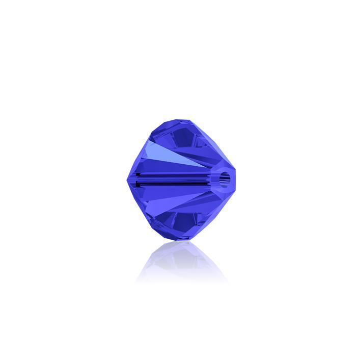 Swarovski Crystal Beads - Pack of 24 Bicones 5328 - 6mm Sapphire
