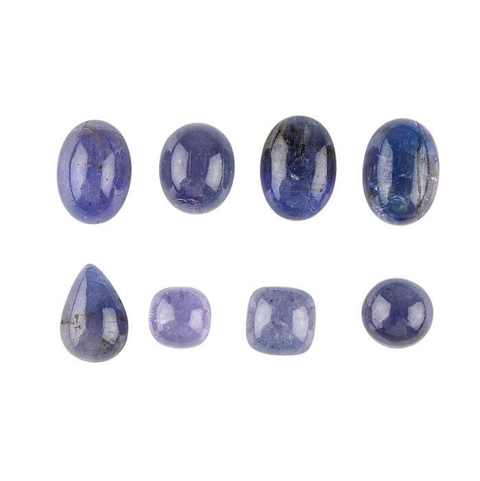 45cts Tanzanite Multi Shape Cabochons Assortment.