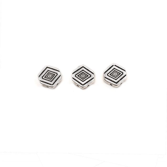 Cymbal Malliadiko - Chevron Connector - Antique Silver Plated (3pk)