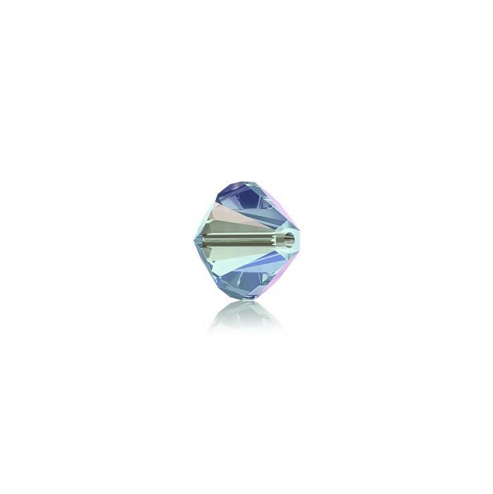 Swarovski Crystal Beads - Pack of 24 Bicone 5328 - 6mm Aquamarine AB