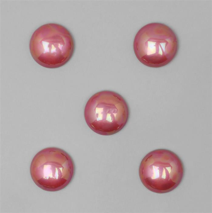 Cherry Shell Pearl Round Cabochon Approx 20mm (5 pcs)