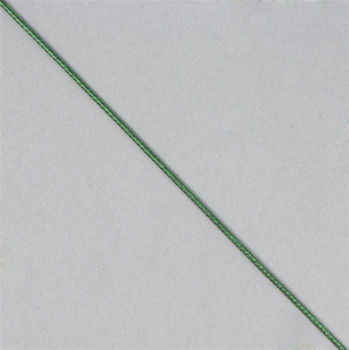 10m Green Woven Cotton Cords, Approx 1mm