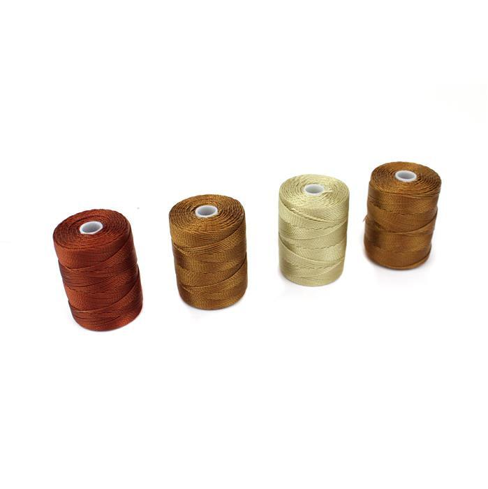 Cappuccino Nylon. Inc 0.4mm Brown, Flax, Chestnut & Mahogany.
