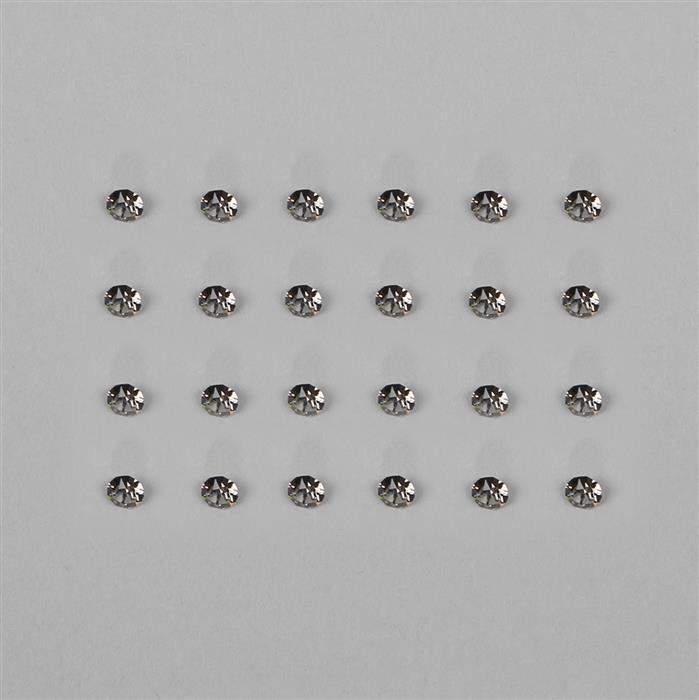Black Diamond 1088 Swarovski Crystal Round Stones - 3mm, 24pk