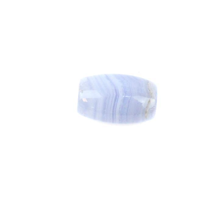 20Cts Blue Lace Agate Barrel Approx 14x20mm, 1pc