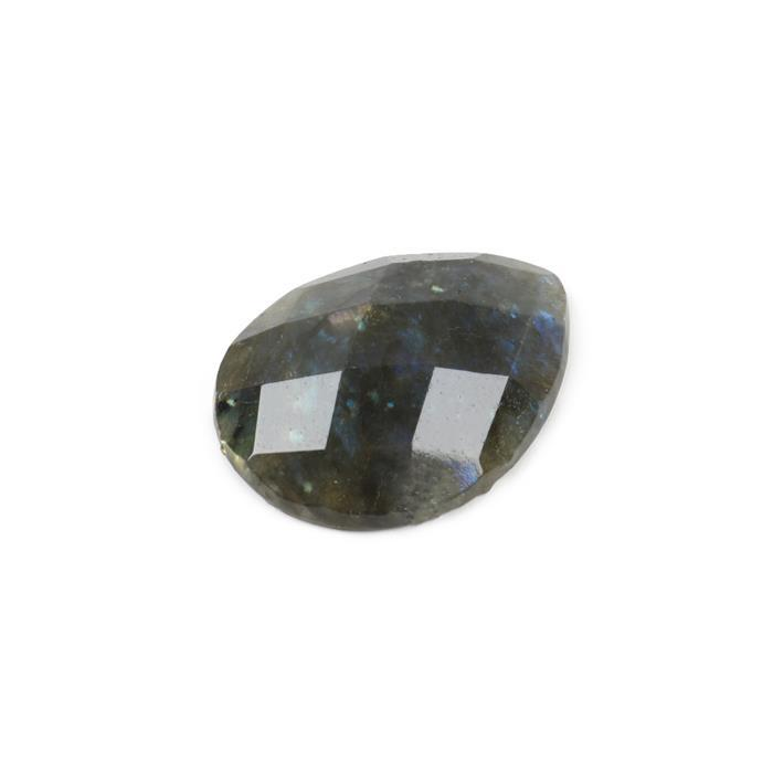 50cts Labradorite Faceted Drop Cabochon Approx 40x30mm