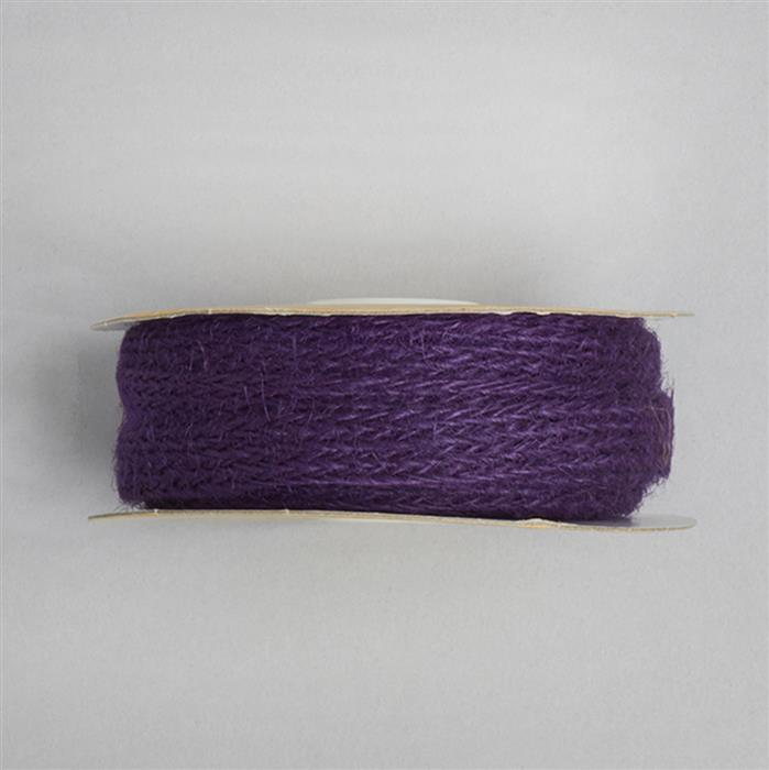 10m Purple Eleganze Natural Woven Hessian Approx 10mm
