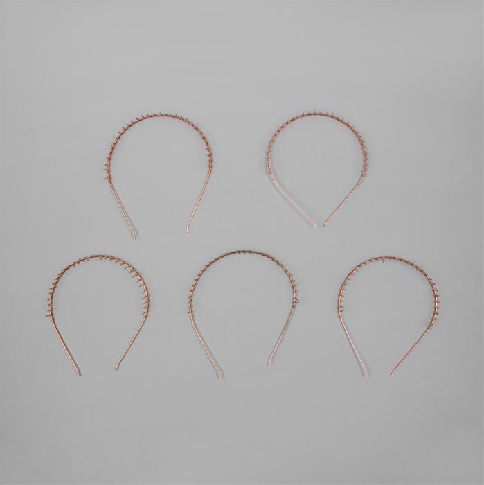 Antique Copper Plated Brass Tiara Bands - 3mm (5pcs/pk)