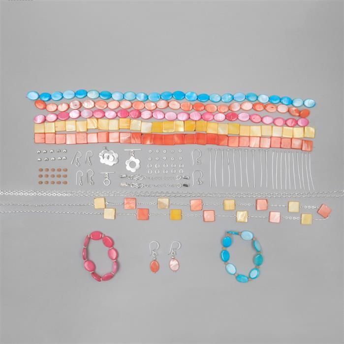 Bold & Beautiful Jewellery Kit Inc; Silver Plated Copper Essential Finding Kit Organza Bag. (Approx 90pcs)