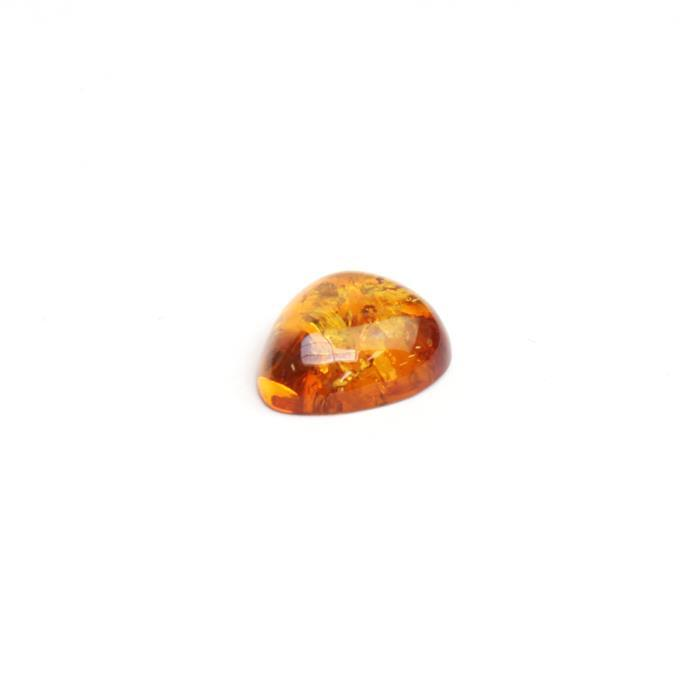 Baltic Cognac Amber Drop Cabochon Approx 16x13mm