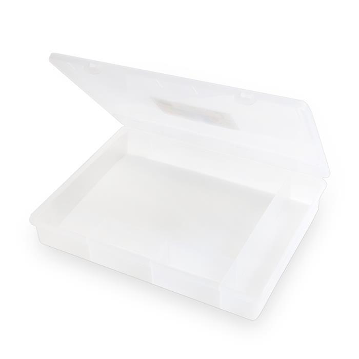 5.03 Clear Organiser Box With 5 Divisions 38x30x6cm