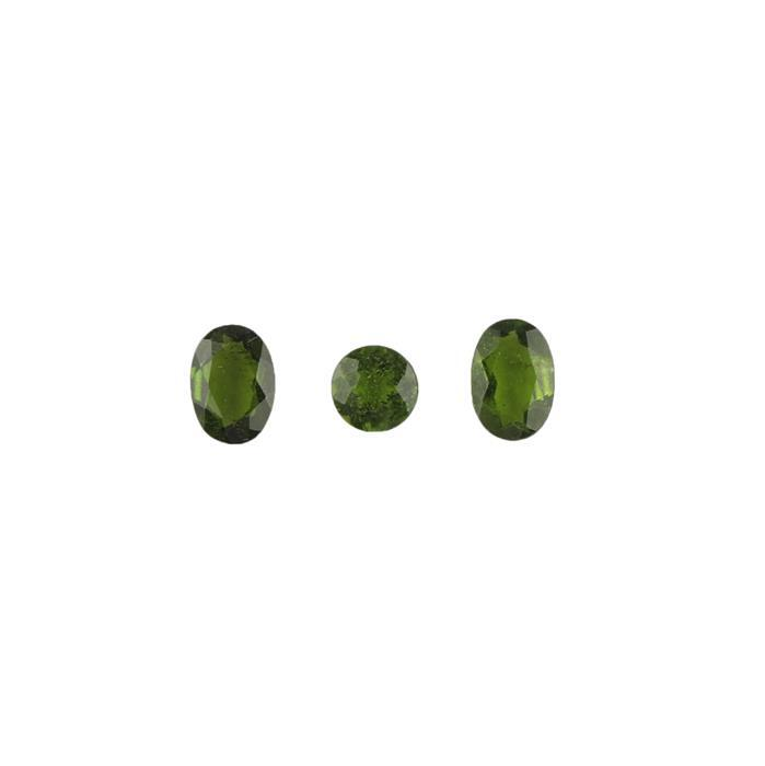 1.70cts Chrome Diopside Brilliant Cut Multi Shape Cut Stones.(Pack of 3)