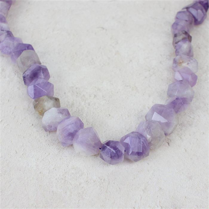 580cts Light Amethyst Faceted Nuggets Approx 11x15mm-13x19mm, 38cm