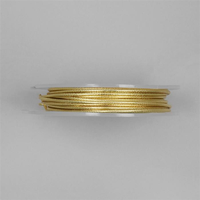 5m Gold Plated Damask Patterned Copper Wire Approx 2.00mm