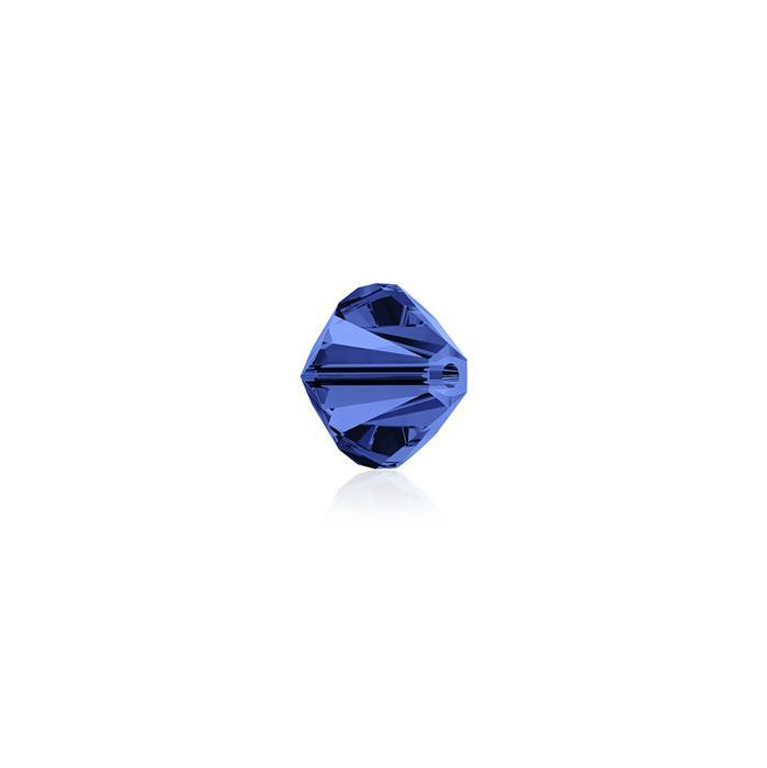 Swarovski Crystal Beads - Pack of 24 Bicone 5328 - 4mm Capri Blue