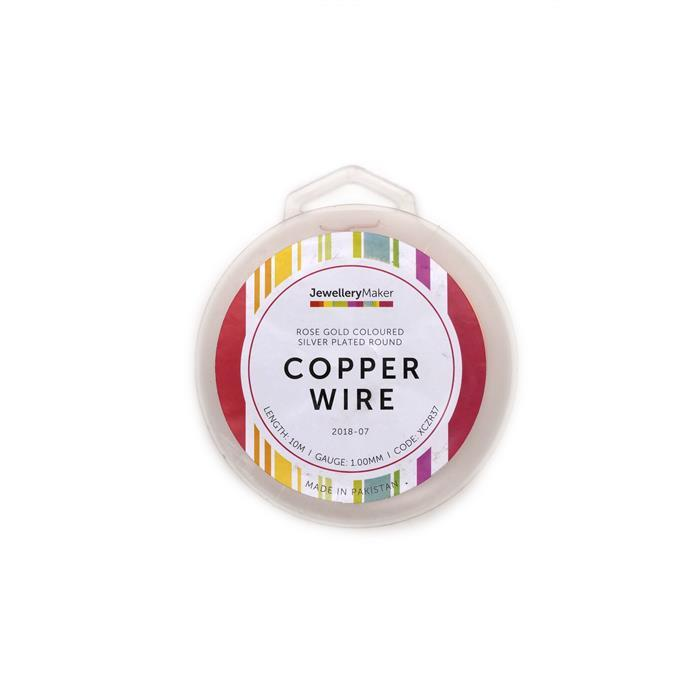 10m Rose Gold Coloured Silver Plated Copper Wire 1.0mm