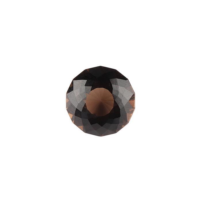 8cts Smokey Quartz Special Cut Round 14mm.