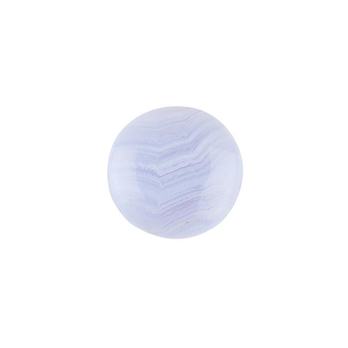 28cts Blue Lace Agate Round Cabochon 25mm.