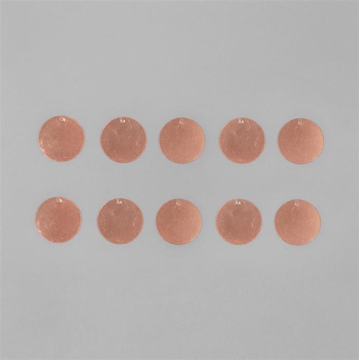Copper Circle Tags 24mm (10pcs)