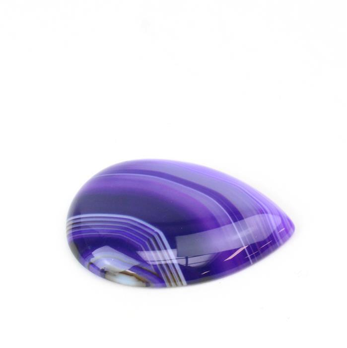 30cts Purple Stripe Agate Pear Cabochon Approx 30x40mm,