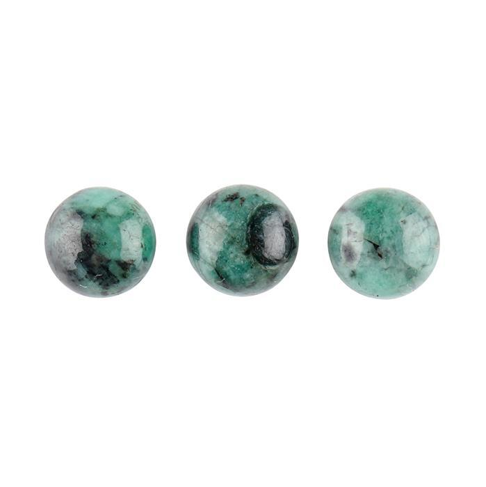 15cts Emerald Round Cabochons Approx 11mm. (Pack of 3)
