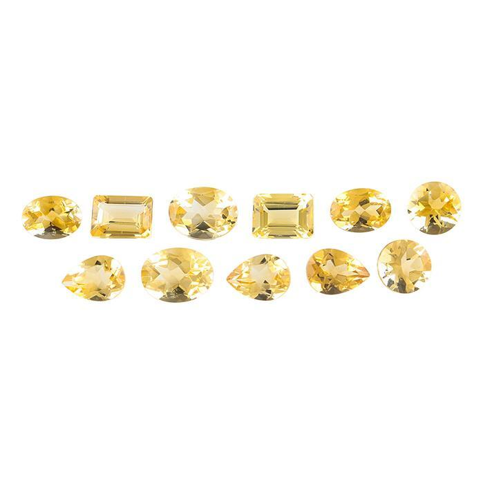 9cts Citrine Faceted Multi Shape Assortment.