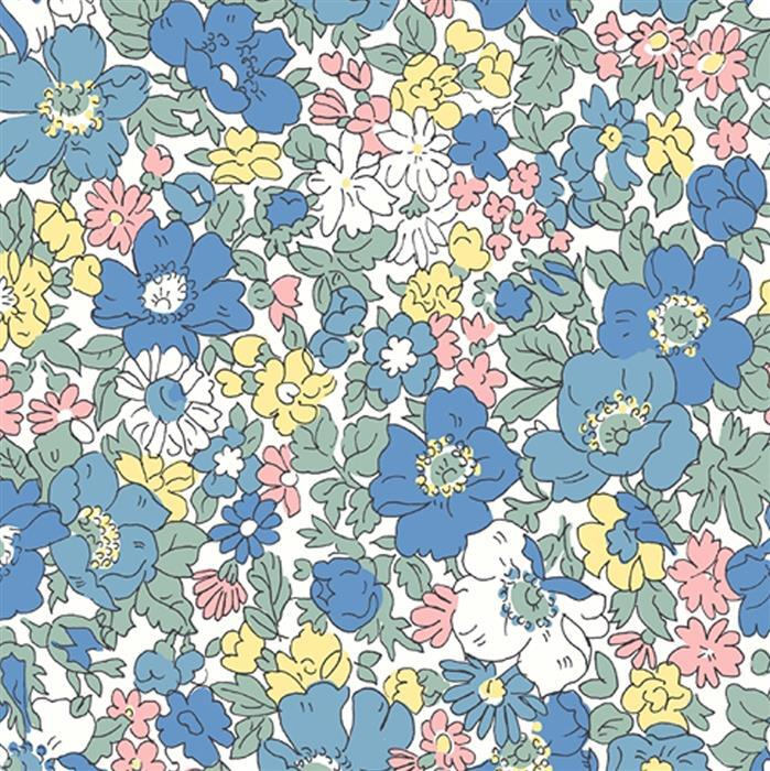 Liberty Cosmos Bloom Fabric from Flower Show Spring Range 0.5m