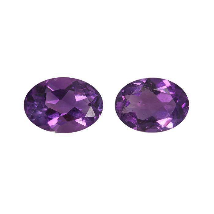 1.2cts Moroccan Amethyst Brilliant Oval Approx 7x5mm