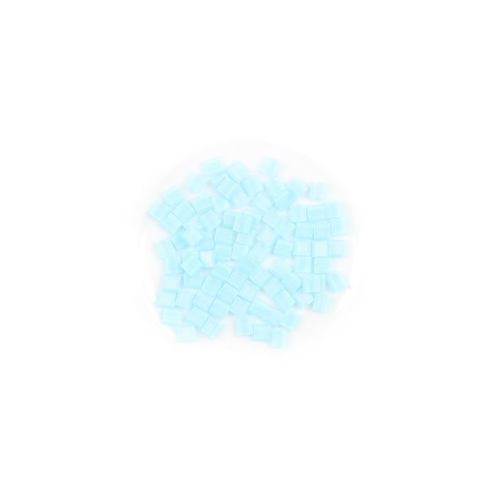 Miyuki Tila Matte Transparent Light Blue AB Beads Approx 5mm (7.2GM/TB)