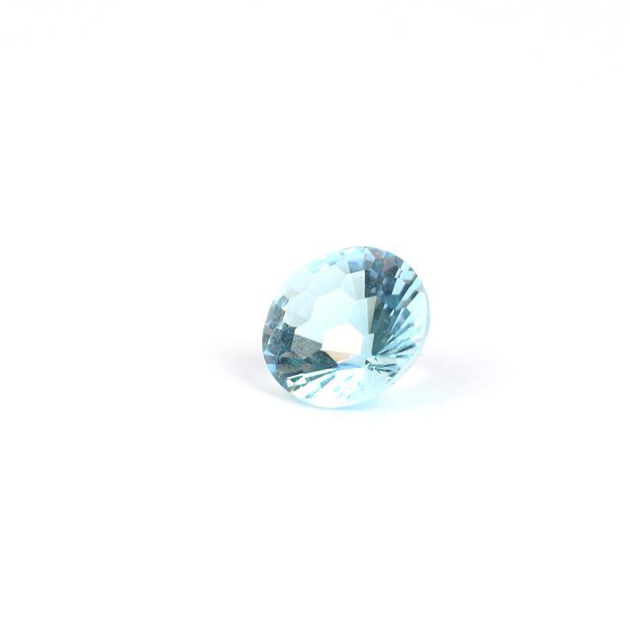 6cts Sky Blue Topaz Honeycomb Cut Round 12mm.