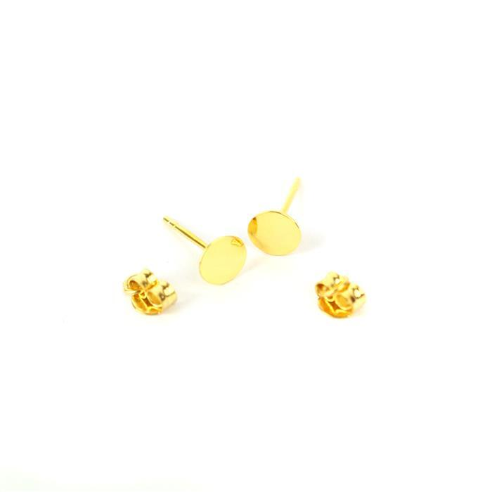 Gold Plated 925 Sterling Silver Earring Post with Butterfly Back 6mm 1 Pair