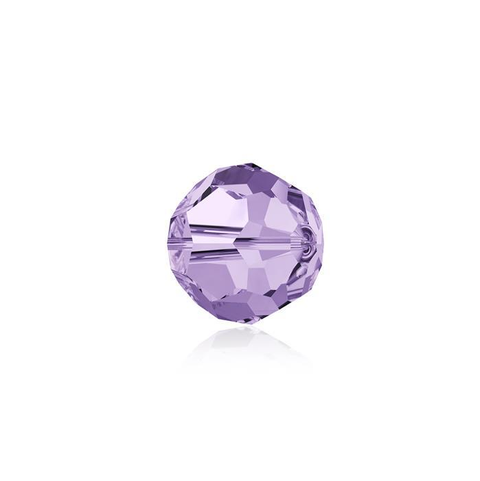 Swarovski Crystal Beads - Pack of 12 Round 5000 - 6mm Violet