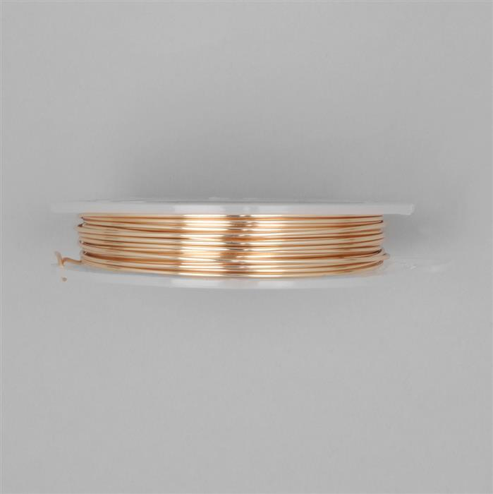 10m Champagne Gold Coloured Silver Plated Copper Wire 1.25mm