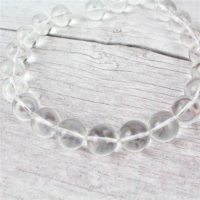 710cts Clear Quartz Plain Rounds Approx 16mm, Approx 38cm strand