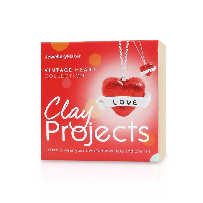 Vintage Heart Polymer Clay Charm Kit