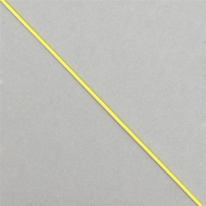 10m Neon Yellow Woven Cotton Cords, Approx 1mm