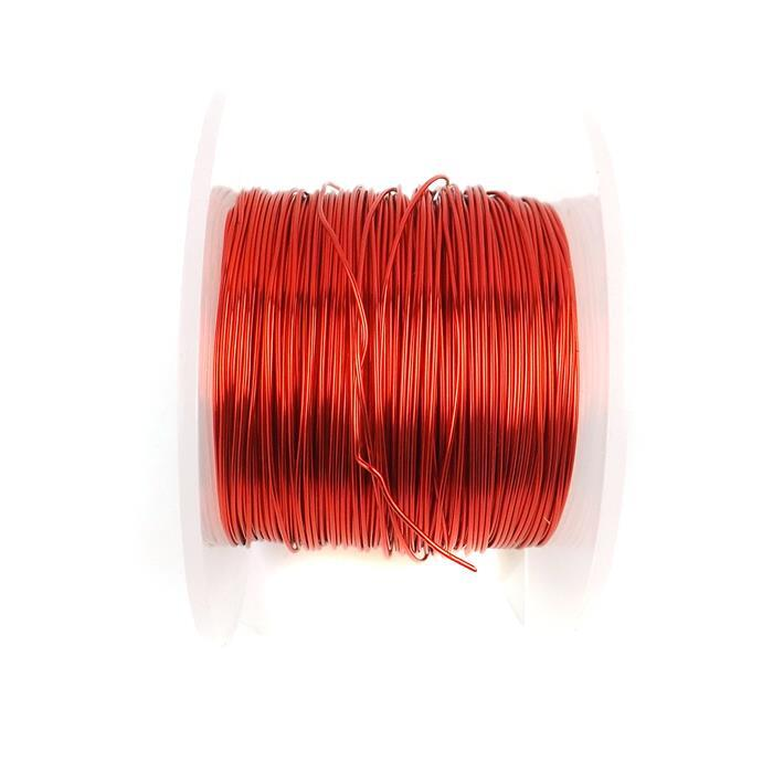 50m Red Coloured Copper Wire 0.8mm