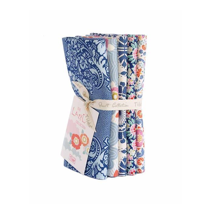 Tilda Lazy Days Blue Fat Quarter Bundle 5 Pieces