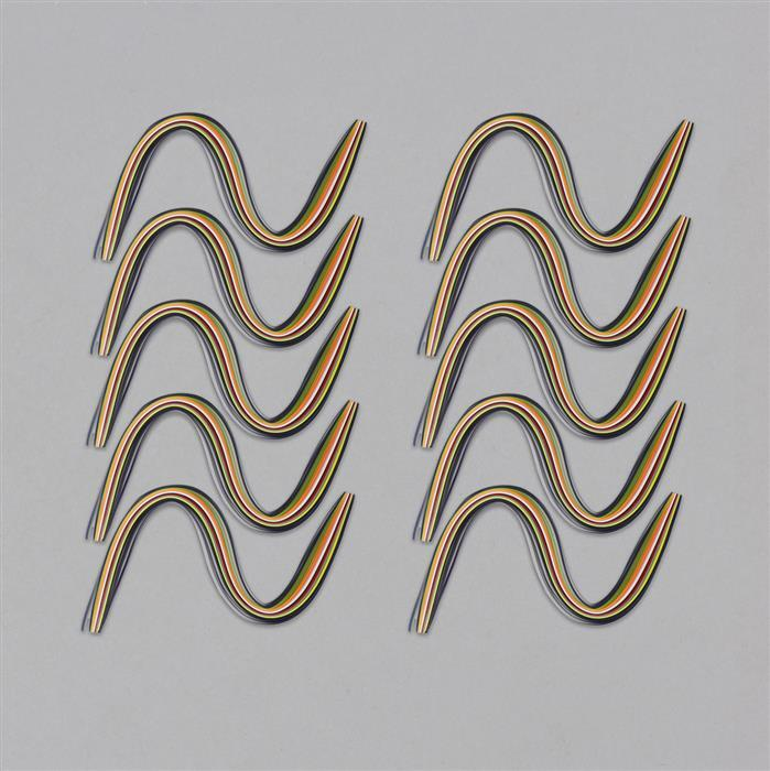 MultiColour Paper Quilling Strips Approx 3mm (10pcs)
