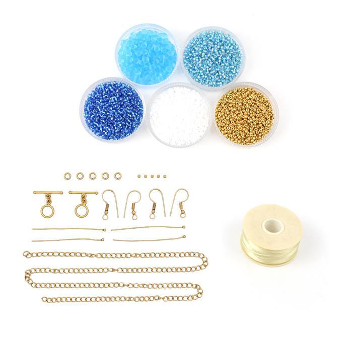 Candy Twist Inc Miyuki Drop Matte Transparent Aqua Beads, Nymo Thread & More