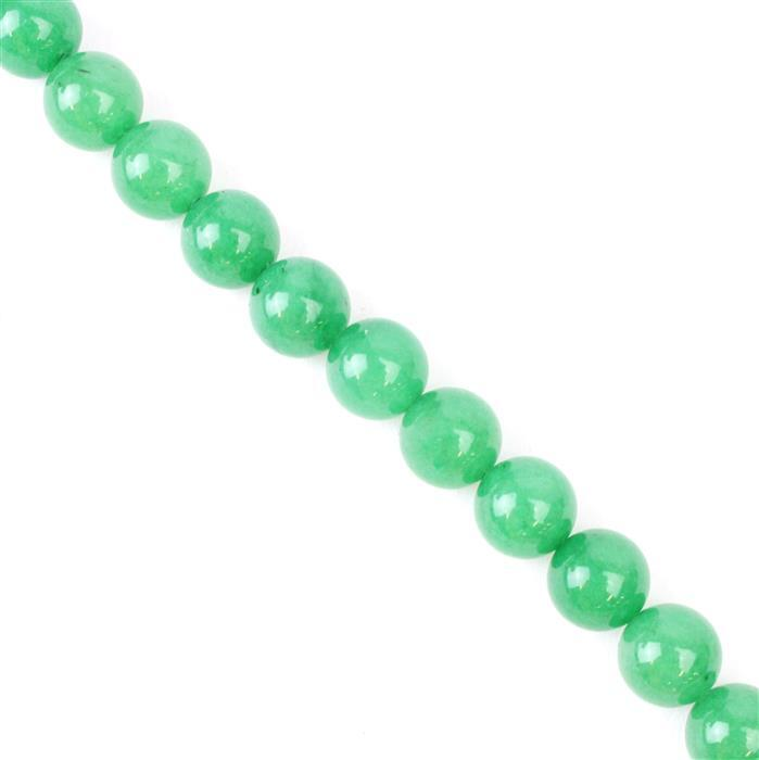 250cts Green Aventurine Plain Rounds Approx 10mm, 38cm strand