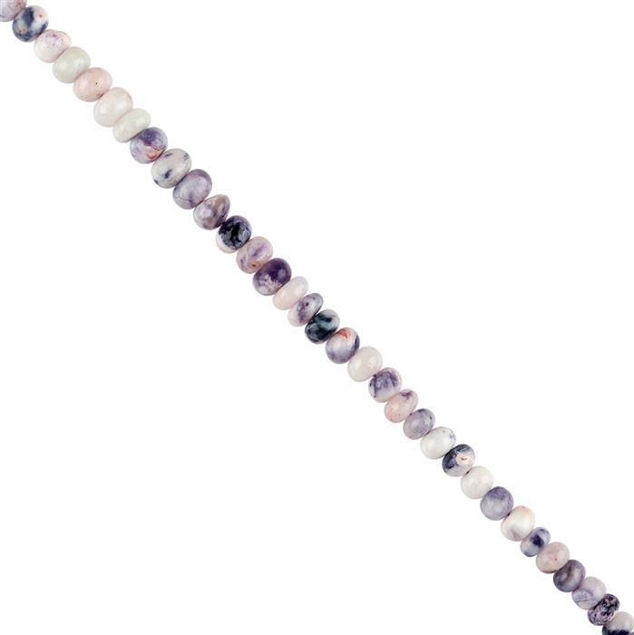 40cts Ombre Tiffany Opal Graduated Plain Rondelles Approx 5x2 to 6x4mm, 18cm Strand.